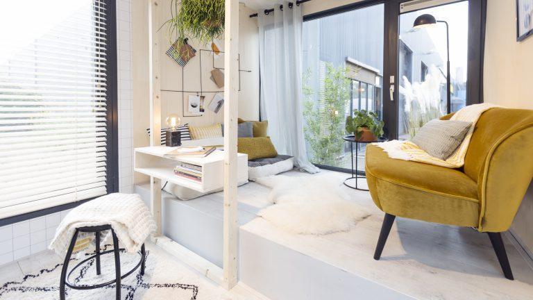 Tiny house inrichting inspiratie modelwoning en tips for Inrichting kleine woning