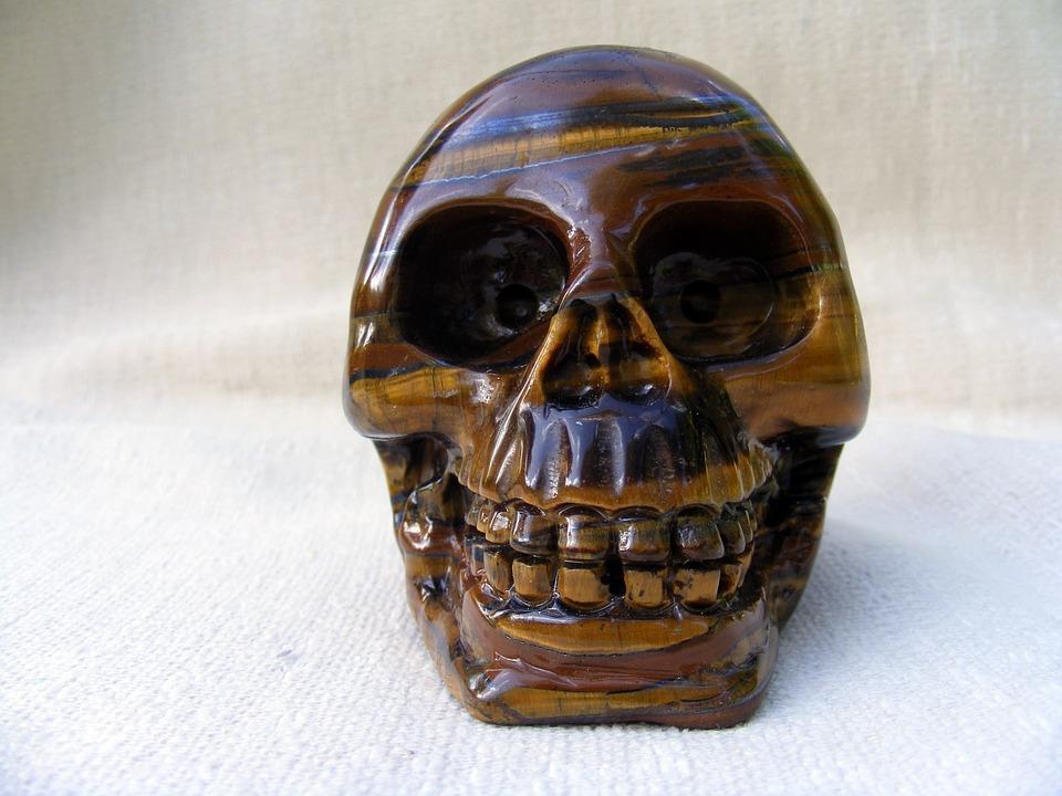 Tijgeroog kristallen schedel