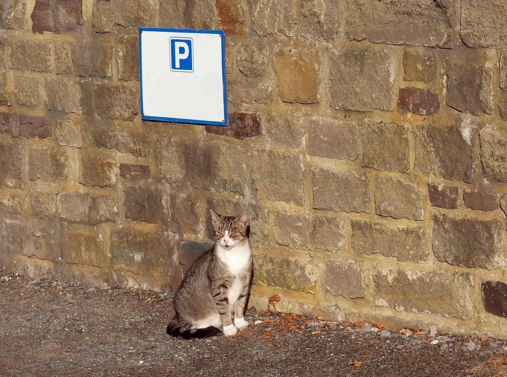 Parkeerbord voor de veiligheid